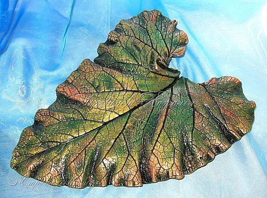 Листья из гипса №2