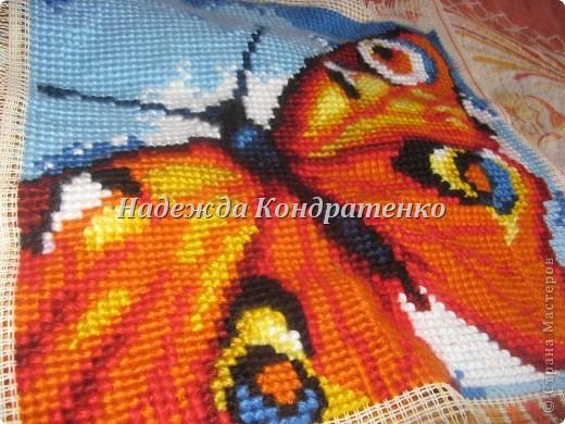 вышивка крестиком бабочка фото 3