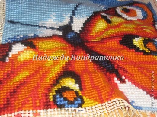 вышивка крестиком бабочка фото 1