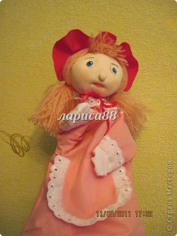 """Куклы для кукольного театра по сказке """"Красная шапочка"""". фото 3"""