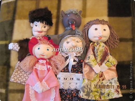 """Куклы для кукольного театра по сказке """"Красная шапочка"""". фото 1"""