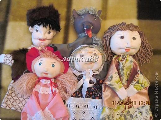 """Куклы для кукольного театра по сказке """"Красная шапочка"""". фото 19"""