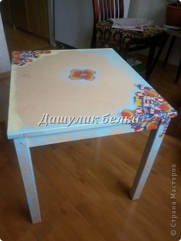 а вот и столик готов к морскому стульчику) фото 1