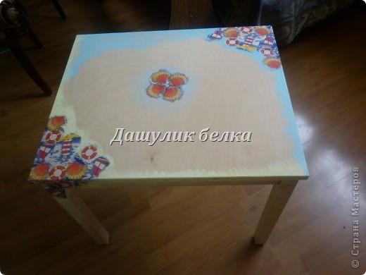 а вот и столик готов к морскому стульчику) фото 2