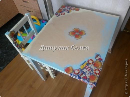 а вот и столик готов к морскому стульчику) фото 3
