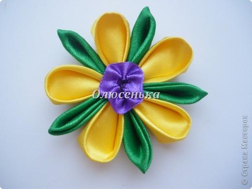 """Мои начинания работы с лентами и тканью """"Бабочки-цветочки"""" фото 2"""