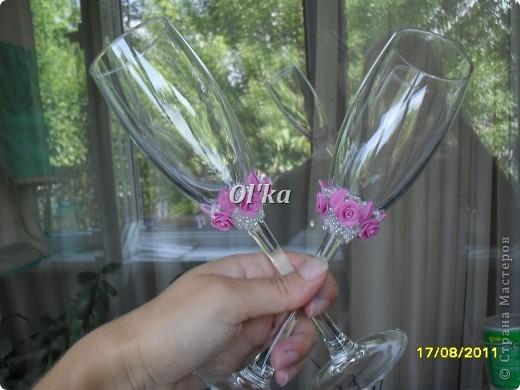 Новые бокальчики. Понравилась форма бокала -  высокий бокал на длинной ножке. фото 2