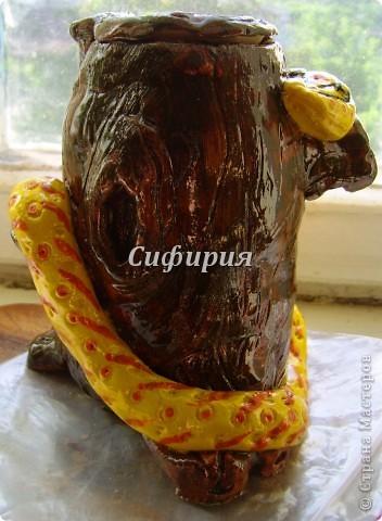 Змея на пне (из банки) фото 4