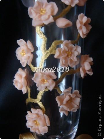 Давно вынашивала в голове эту идейку. В нете встречала розы, лилии, каллы, орхидеи и другие стилизованные цветы. Сакуры не видела, вот и захотелось. фото 4