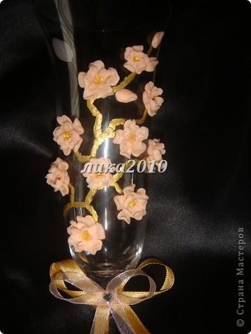Давно вынашивала в голове эту идейку. В нете встречала розы, лилии, каллы, орхидеи и другие стилизованные цветы. Сакуры не видела, вот и захотелось. фото 3