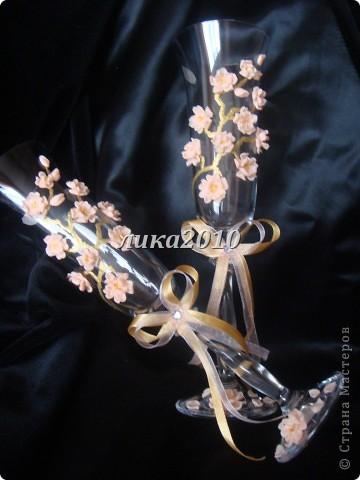 Давно вынашивала в голове эту идейку. В нете встречала розы, лилии, каллы, орхидеи и другие стилизованные цветы. Сакуры не видела, вот и захотелось. фото 8