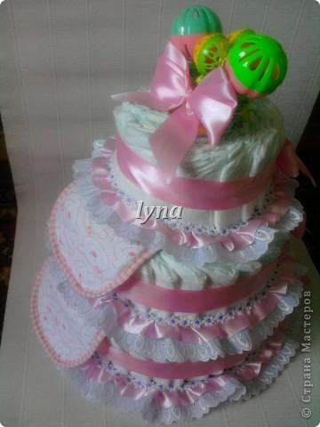 Памперсный торт (первый) фото 3