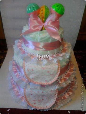 Памперсный торт (первый) фото 4