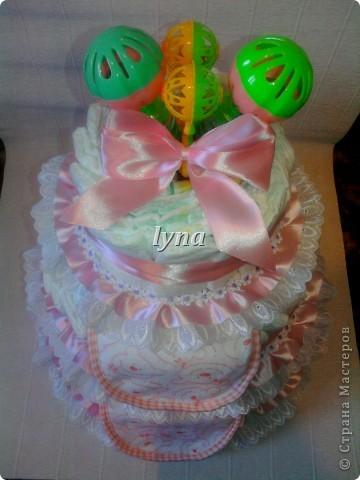 Памперсный торт (первый) фото 2