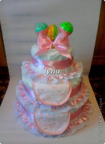 Памперсный торт (первый) фото 1