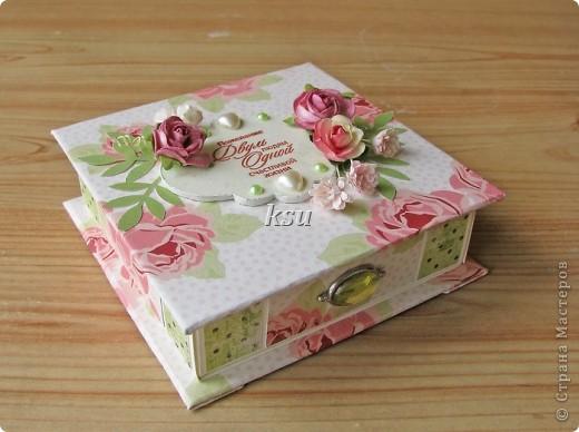 Свадебная коробочка для денежного или иного подарка фото 2