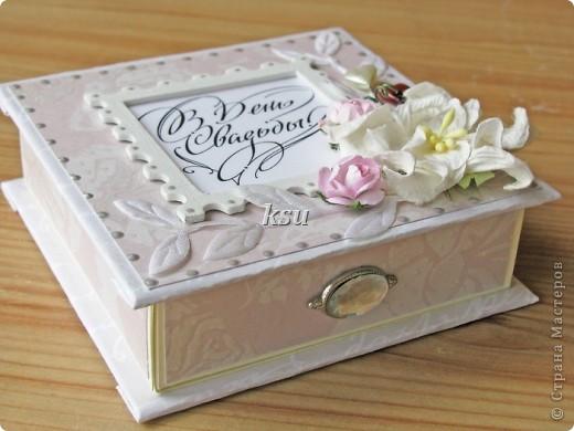 Свадебная коробочка для денежного или иного подарка фото 3