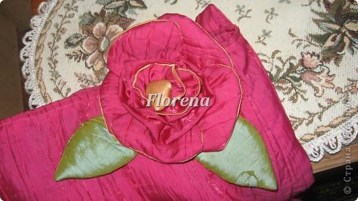 Сочная сумка из тафты .И на ней тоже-цветок.Ну люблю я их-страсть как!!!! фото 3
