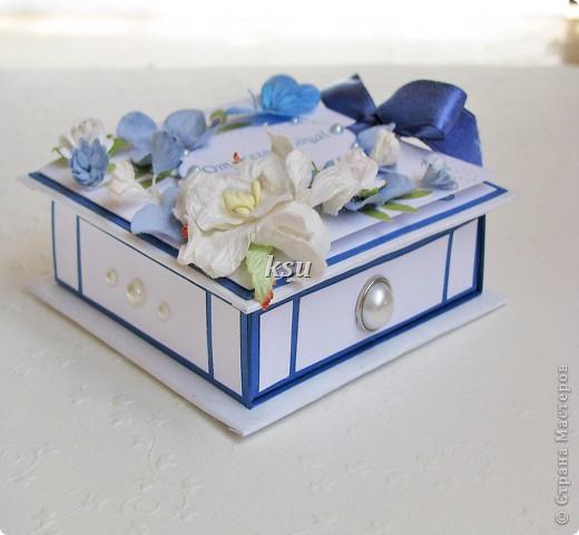 Свадебная коробочка для денежного или иного подарка фото 4