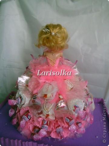 Попробовала нарядить куколку, и повод хороший подвернулся, у крестницы мужа 6-тилетие отмечали. фото 6