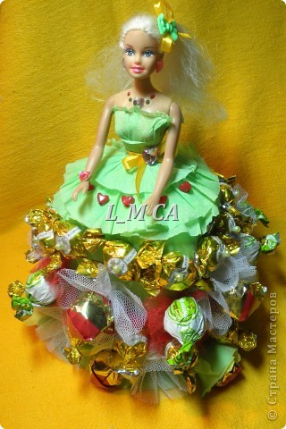 кукла из конфет (спасибо за идею свет9)
