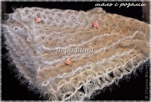 Подарочный комплект для новорожденного- одеялко и пинетки из детского акрила. фото 4