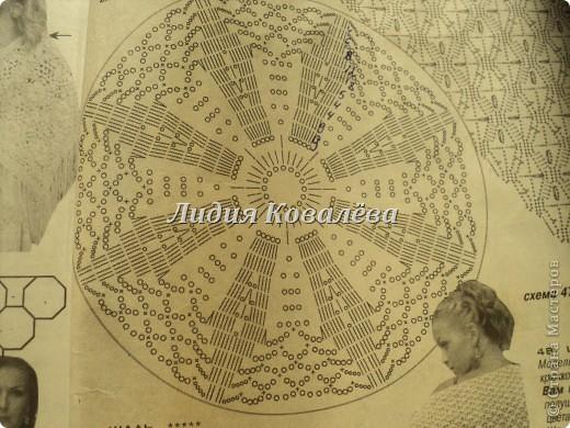 Гардероб Вязание крючком Синяя шаль+схема Пряжа фото 4