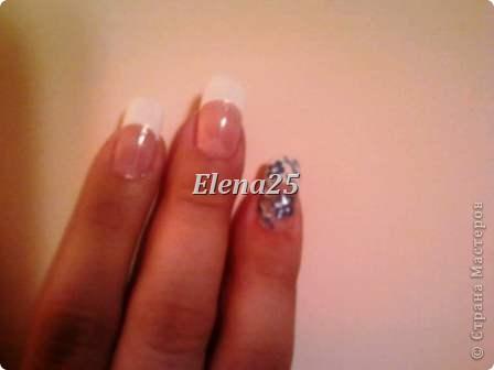 Увлеклась недавно росписью ногтей. Оцените творчество начинающего художника росписи по ногтям.  Ноготки невесты. фото 9
