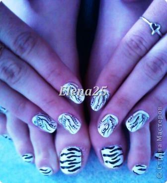 Увлеклась недавно росписью ногтей. Оцените творчество начинающего художника росписи по ногтям.  Ноготки невесты. фото 3