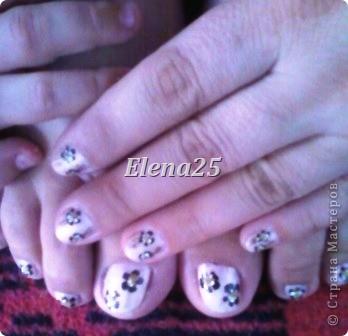 Увлеклась недавно росписью ногтей. Оцените творчество начинающего художника росписи по ногтям.  Ноготки невесты. фото 4
