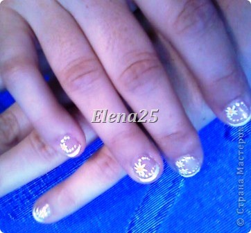 Увлеклась недавно росписью ногтей. Оцените творчество начинающего художника росписи по ногтям.  Ноготки невесты. фото 5