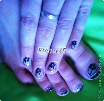 Увлеклась недавно росписью ногтей. Оцените творчество начинающего художника росписи по ногтям.  Ноготки невесты. фото 6