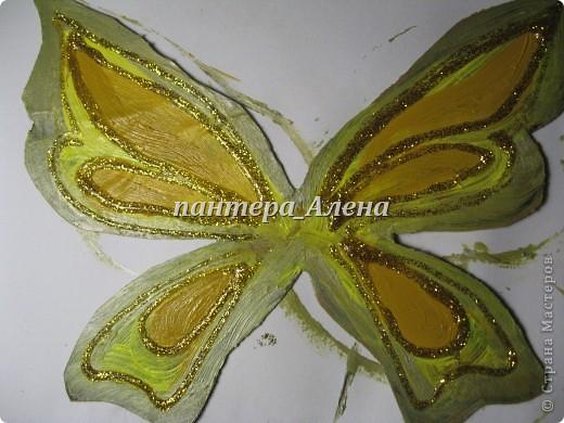 Вот такие крылья можно сделать за пару часов.  ( учитывая время высыхания краски)  Материалы:  - кукла - пластиковая основа ( коврик для мыши или папка и т.п.) - ножницы. кисточки - силиконовый клей - акриловые краски ( или гуашь и клей ПВА) - пайетки - золотой контур  фото 4