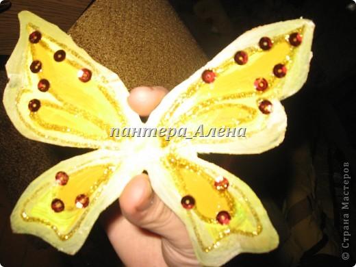 Вот такие крылья можно сделать за пару часов.  ( учитывая время высыхания краски)  Материалы:  - кукла - пластиковая основа ( коврик для мыши или папка и т.п.) - ножницы. кисточки - силиконовый клей - акриловые краски ( или гуашь и клей ПВА) - пайетки - золотой контур  фото 5