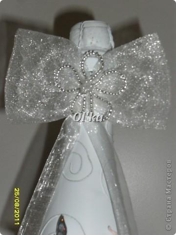Эта бутылочка сделана специально в подарок на День рождения моей мамочке.  Но, как вариант, она может быть и свадебной. фото 4