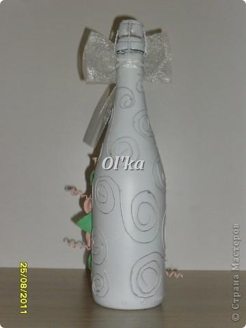 Эта бутылочка сделана специально в подарок на День рождения моей мамочке.  Но, как вариант, она может быть и свадебной. фото 6