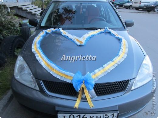 Свадебное украшение на машину фото 4