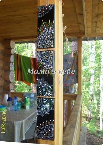 Панно из остатков обналичника двери, акриловые контуры, бусины и зерна кофе фото 1