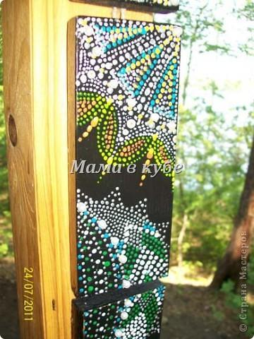 Панно из остатков обналичника двери, акриловые контуры, бусины и зерна кофе фото 3
