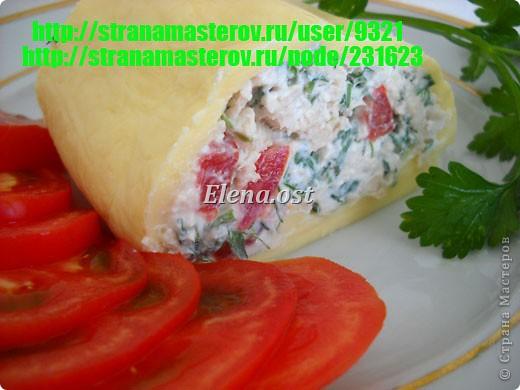 Холодная пикантная закуска с сыром, творогом и зеленью.  При копировании статьи, целиком или частично, пожалуйста, указывайте активную ссылку на источник! http://stranamasterov.ru/user/9321 http://stranamasterov.ru/node/231623 фото 1