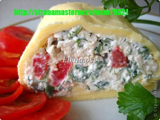 Холодная пикантная закуска с сыром, творогом и зеленью.  При копировании статьи, целиком или частично, пожалуйста, указывайте активную ссылку на источник! http://stranamasterov.ru/user/9321 http://stranamasterov.ru/node/231623 фото 2