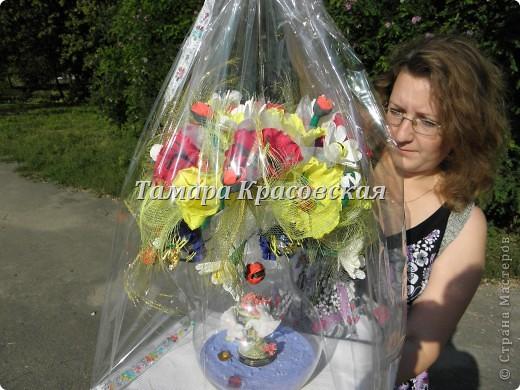 Очень не лёгкий букет для свадьбы и заказчица. фото 5