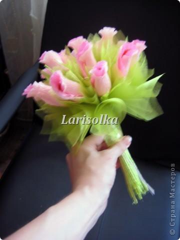 Букетик в подарок, спасибо девочкам с Осинки, там столько идей!!! фото 4