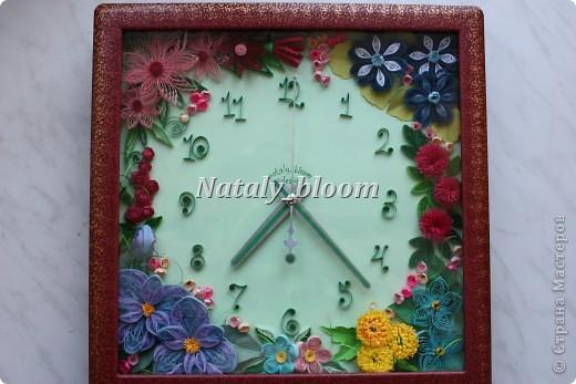 Цветочные часы фото 1