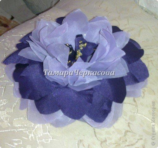 Цветы из ткани фото 15