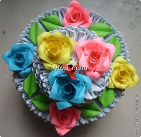 Я собирала торт по мастер-классу:   http://stranamasterov.ru/technics/cake?tid=451%2C328                только огонь свечи я решила сделать по своему фото 2