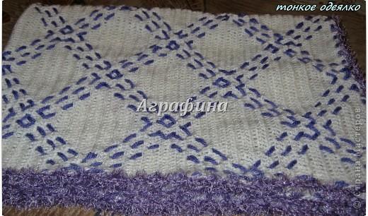 Подарочный комплект для новорожденного- одеялко и пинетки из детского акрила. фото 8