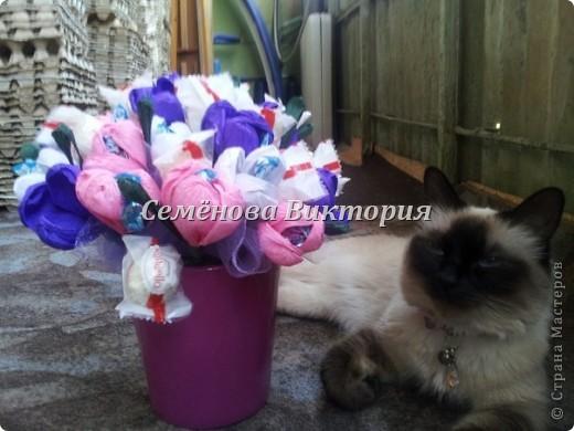 Долго думала что подарить на ДР,остановилась на тюльпанах,мой любимый букет! фото 3