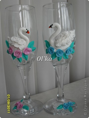 Лебеди сделаны по МК Валентинки Порчелли. Валентинка, спасибо!!!