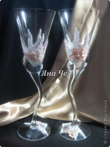 """Свадебные бокалы """"Лилит"""" фото 2"""